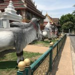 Large statue of animal in compound