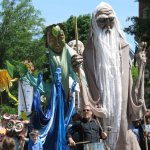 Giant Puppet Parade on Main Street