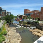 Downtown Greenville from Main Street bridge over the Reedy River