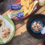 Fish tacos & octopus ceviche from taco shack!