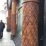 Lovely ceramic tiled columns out front.