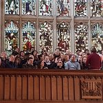 Part of the tour - at St Mary's Church, Oxford High Street