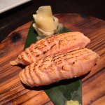 Torched Salmon Belly Sushi Nigiri
