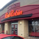 front of & entrance to Red Robin Gourmet Burgers