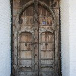 Carved door in Old Vallarta.