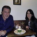ROSARIO CASSATA AND CAROLYN AT OSTERIO DA NINO IN HUNTINGTON VILLAGE