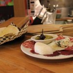 Antipasto: mix of luxurious cheeses and meats