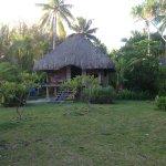 Notre bungalow face au lagon