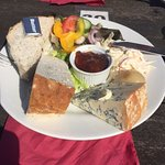 A generously proportioned Stilton ploughman's at Barleymows Farm Shop