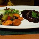 Steak in red wine