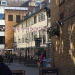 The pub and courtyard viewed from Borough High Street