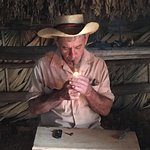 A cigar rolling demonstration at Benito's.