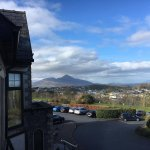 View of Croagh Patrick and Westport town from our room in Knockranny House Hotel
