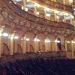 Vista parcial interna esquerda do Teatro...
