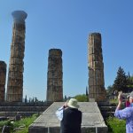The Temple of Apollo; Delphi - just a few minutes from the hotel by foot