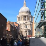 A view of St Pauls from One New Change shopping mall