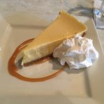 All homemade key lime pie with real graham cracker crust and whipped cream.  A wonderful melt in