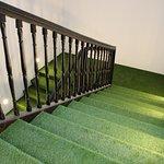 L'escalier en gazon du Grand Hotel BELFRY