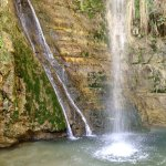 David's waterfall, En Gedi