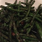 stir-fried French green beans w/ preserved olive - delicious!!