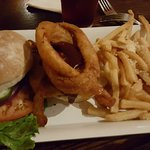 Ginnie Burger with special fries