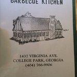 menu with address