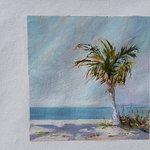 Cedar Cove beach view oil painting