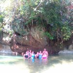 Swimming after the cave