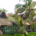 A large palapa cabana