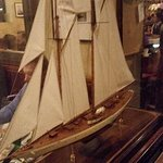 Model of sailing ship - which fits the restaurant's name