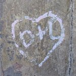 our initials- No , we did not deface and do this just my hubby noticed it