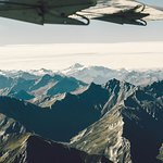 High above the Southern Alps.