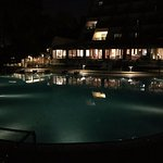 Pool side at night