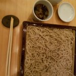 Simple plain cold soba made of the new harvest