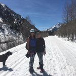 hiking to maroon bells in the winter