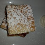crispy pastry with pastry cream filling