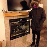 Kimberly staying warm