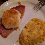 Ham & biscuit with hashbrowns