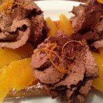 Orange and Chocolate Mousse Belgian Waffles