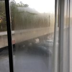 Condensation from broken seals, blocking outside view