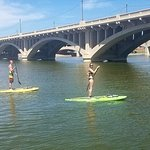 Standup paddleboarding at Tempe Beach Park