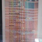 Calabash menu