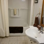 Large private bath with deep soaker tub/shower