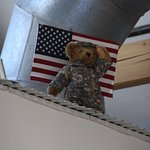 Soldier Bear watching over the factory