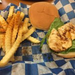 Grilled Chicken sandwich and fries
