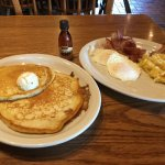 Bacon, eggs and pancakes for breakfast!