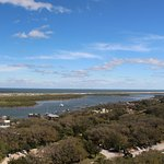 A view of the inlet from up top
