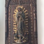 This is Our Lady of Guadalupe. In vestibule of 5th Ave chapel