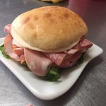 Our Deli Italian sub sandwich on cibatta.