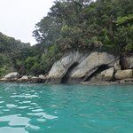 Beautiful coastline on the Abel Tasman